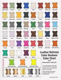 Tarrago Dye Color Chart Leather Dye Colors