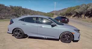 2018 honda civic hatchback grey. 2017 honda civic hatchback with manual gets smoking tire review 2018 grey