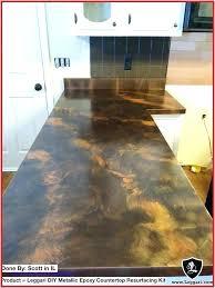 diy countertop resurfacing metallic kits concrete leggari products