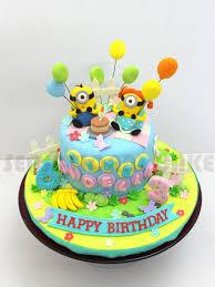 Minions Sugarcraft Birthday Cake Couple Love Version 3d Cake