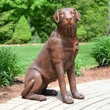 lab garden statues brown lab black labrador retriever garden statue chocolate lab garden statues