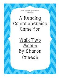 the best walk two moons ideas list of moons  walk two moons reading comprehension game from mrs