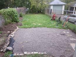 Layout Gravel Backyard Layout