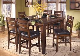 larchmont square counter height dining table and 6 chairs louisville overstock warehouse