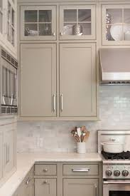 Kitchen Cabinet Backsplash Gorgeous Greige Kitchen Cabinets With Tile Backsplash Classic And Neutral