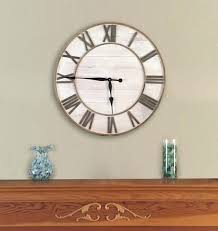 living room wall clocks. Appealing Oversized Wall Clocks Target For Your Interior Decor: Rustic Round Living Room E