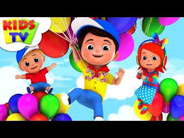 Children Education Cartoons Balloon Song Junior Squad Kindergarten Rhymes For Toddlers