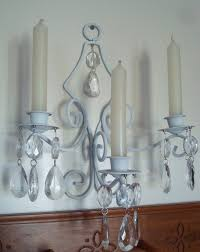 gallery of chandelier magnetic crystals wall sconce candle holder white metal hanging colored full size with crystal wall sconces for candles