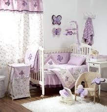 baby girl crib bedding purple and gray enchanting set with small wicker chair baby girl crib bedding purple and gray