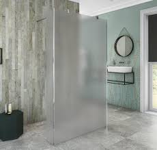 frosted wetroom shower enclosure screen coram stylus