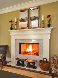 elegant living room photo in new york with a standard fireplace