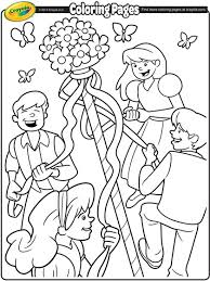 Small Picture May Day Maypole Coloring Page crayolacom