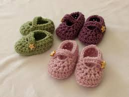 How to crochet easy baby Mary Jane shoes - booties / slippers for ...