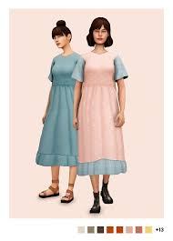 sulsulhun's daria smock dress #s4cc #ts4cc | Sims 4 dresses, Sims 4 mods  clothes, Sims 4 clothing