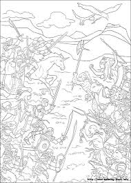 battle narnia coloring page printable battle narnia coloring battle narnia free coloring