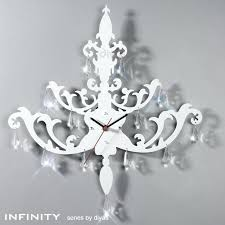 metal chandelier wall art infinity clock white with crystal drop kids room decor metal chandelier wall art