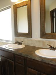 wood mirror frame ideas. Two Carved Brown Wooden Frame Wall Mirror Mixed Single Handle Steel Bathroom Faucets Black Wood Frames Decorating Mirrors Ideas White Floor R