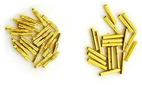 BW 20 Pairs 2mm Gold Plated Male & Female Bullet ... - Amazon.com