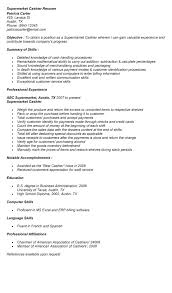 ... cashier job description for resume sample