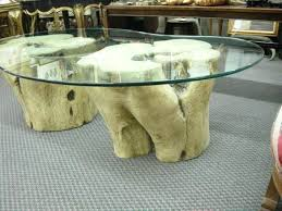 coffee table tree trunk avenue antiques unusual modern tree trunk base coffee table intended for tree