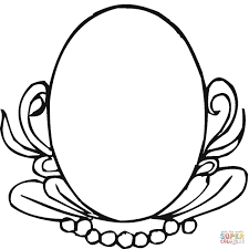 Small Picture Oval Mirror coloring page Free Printable Coloring Pages