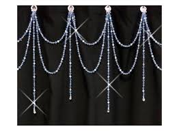 shower curtain bling double swag with short alt strands 54 95 via available