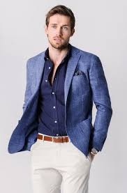 Blue Blazer \u0026 Cream Chino\u0027s Fab Combination | Dress well. Wear ...