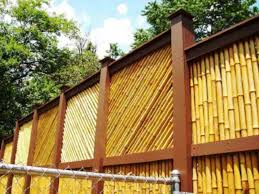 build bamboo fence frame