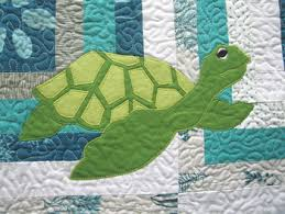 Summer Sewing ~ More Fun With Machine Appliqué | Sew Mama Sew & This sea turtle was built in five steps. First, I sewed the back and right  front flippers. Then, I sewed the shell, then the lighter pieces that  create the ... Adamdwight.com
