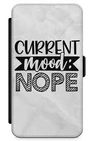 Amazoncom Iphone Xr Case Current Mood Nope Synthetic Leather