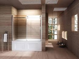 frameless bathtub doors alcove glass sliding bathtub door