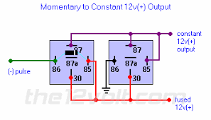 special applications with spdt relays 12vdc relay wiring diagram momentary to constant 12v( ) output relay diagram