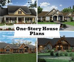 one level house plans stylish living