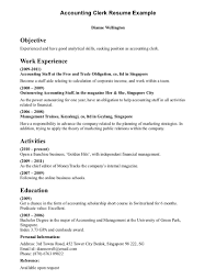 clerical resume samples jianbochencom gallery of sample of resume ...