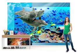 Teal Bedroom Wallpaper Wall Mural Photo Wallpaper Picture 072pp Dolphin Bedroom Boys