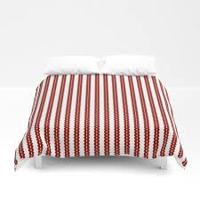 red and white striped duvet cover