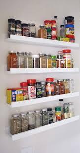 Ikea ledges make the perfect spice rack, nail polish rack or shot glass  display!
