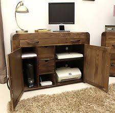 hidden office desk. Shiro Solid Walnut Furniture Hidden Home Office Computer PC Desk