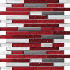 quartz red mosaic tile