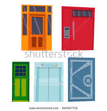 open front door illustration. Interesting Open Perfect Open Front Door Illustration With Plain  Shop Building With Glass In D