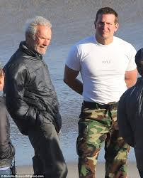 bradley cooper american sniper set photos. Wonderful Set Just Call Him Buffly Cooper Bradley  The Actor Showed Off His  Muscles On Set While He Chatted To Director Clint Eastwood For Bradley American Sniper Set Photos Y