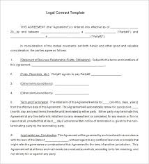 Legal Contracts Templates Free