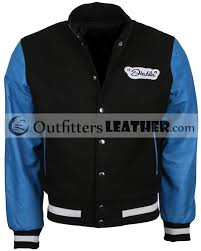 el diablo letterman squad varsity wool leather sleeves celebrity jacket