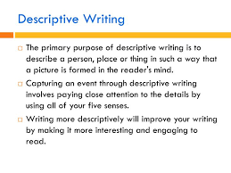 Descriptive Essay Describing A Person Ppt Descriptive Writing Powerpoint Presentation Id 2170447