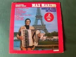 Max marino: under the skies of paris - 2 x lp 1977 carrere 67.183 ...