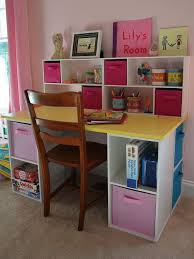 diy desk for kids assembled ed up closetmaid cubes into a great little desk so much storage space