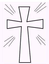 Stained Glass Cross Printable Coloring Sheet Sunday School Best Of