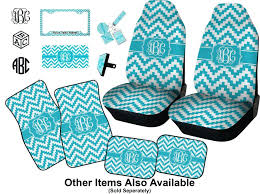 car seat gy seat covers for cars car turquoise chevron set of two personalized baby