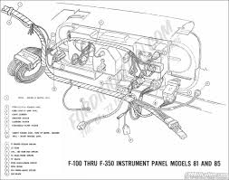 ford truck technical drawings and schematics section h wiring 1969 f 100 thru f 350 instrument panel