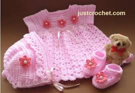 Free Crochet Patterns For Newborns Beauteous Free Three Piece Baby Dress Crochet Pattern Design by Just Crochet